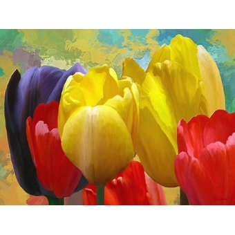cuadros de flores - Cuadro -Moderno CM2136a- - Medeiros, Celito