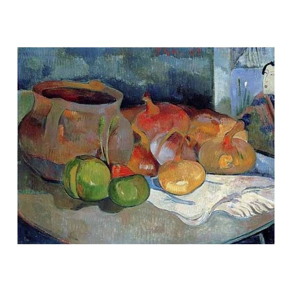 cuadros de bodegones - Cuadro -Bodegón con cebollas y remolacha-