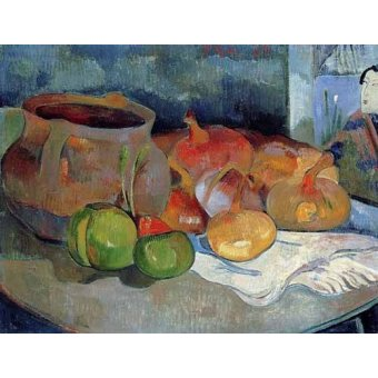 cuadros de bodegones - Cuadro -Bodegón con cebollas y remolacha- - Gauguin, Paul