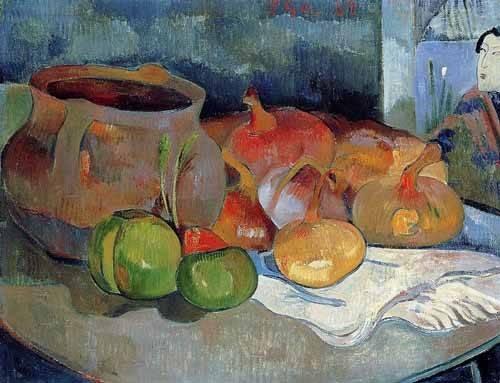 cuadros-de-bodegones - Cuadro -Bodegón con cebollas y remolacha- - Gauguin, Paul
