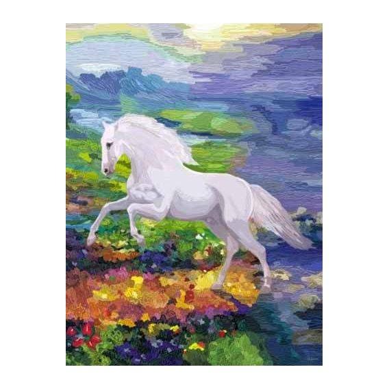 cuadros modernos - Cuadro -Moderno CM2458- (caballos)