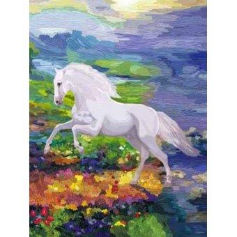 cuadros de fauna - Cuadro -Moderno CM2458- (caballos) - Medeiros, Celito