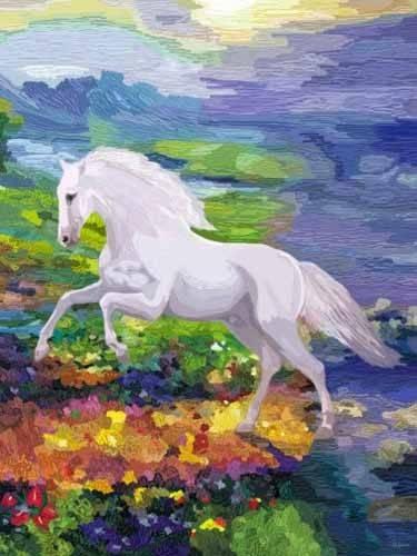 cuadros-modernos - Cuadro -Moderno CM2458- (caballos) - Medeiros, Celito