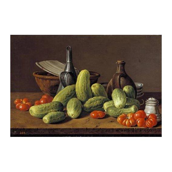 cuadros de bodegones - Cuadro -Pepinos y tomates-
