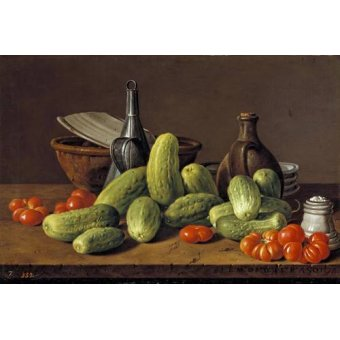 - Cuadro -Pepinos y tomates- - Melendez, Luis