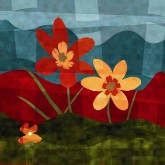 cuadros de flores - Cuadro -Moderno CM2528- - Medeiros, Celito