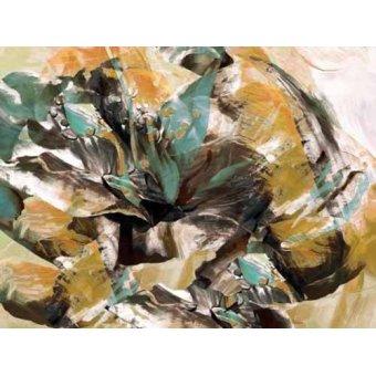 cuadros abstractos - Cuadro -Moderno CM3595- - Medeiros, Celito