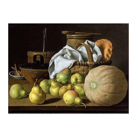 cuadros de bodegones - Cuadro -Bodegón con melón y peras-