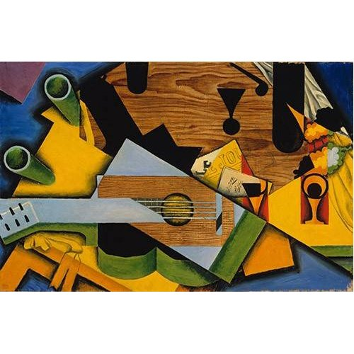 cuadros abstractos - Cuadro -Still Life with a Guitar-