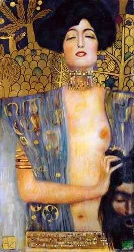cuadros-de-retrato - Cuadro -Judith II- - Klimt, Gustav