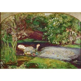- Cuadro -Ofelia- - Millais, John Everett