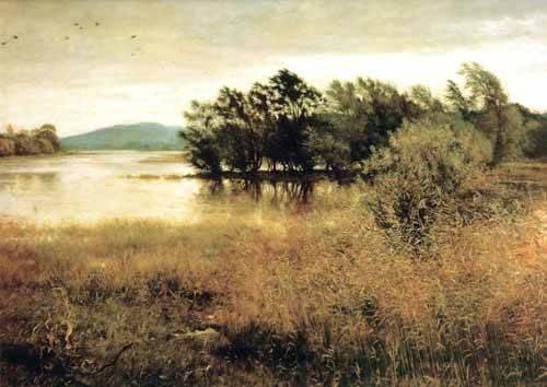 cuadros-de-paisajes - Cuadro -Chill October- - Millais, John Everett