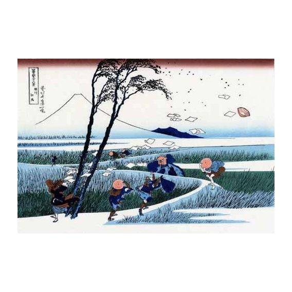 cuadros etnicos y oriente - Cuadro -Ejiri in the Suruga province-