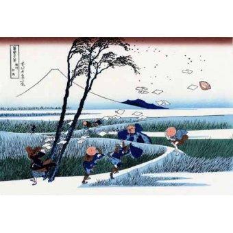 - Cuadro -Ejiri in the Suruga province- - Hokusai, Katsushika
