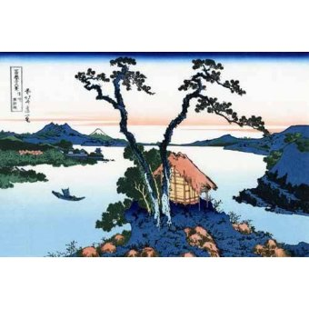 - Cuadro -Lake Suwa in the Shinano province- - Hokusai, Katsushika