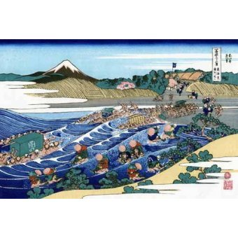 - Cuadro -The Fuji from Kanaya on the Tokaido- - Hokusai, Katsushika