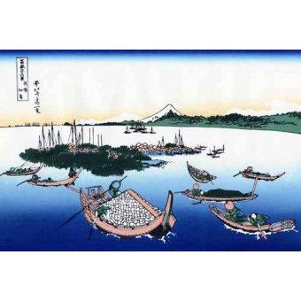 - Cuadro -Tsukada Island in the Musashi province- - Hokusai, Katsushika