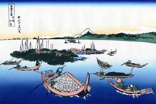 cuadros-etnicos-y-oriente - Cuadro -Tsukada Island in the Musashi province- - Hokusai, Katsushika