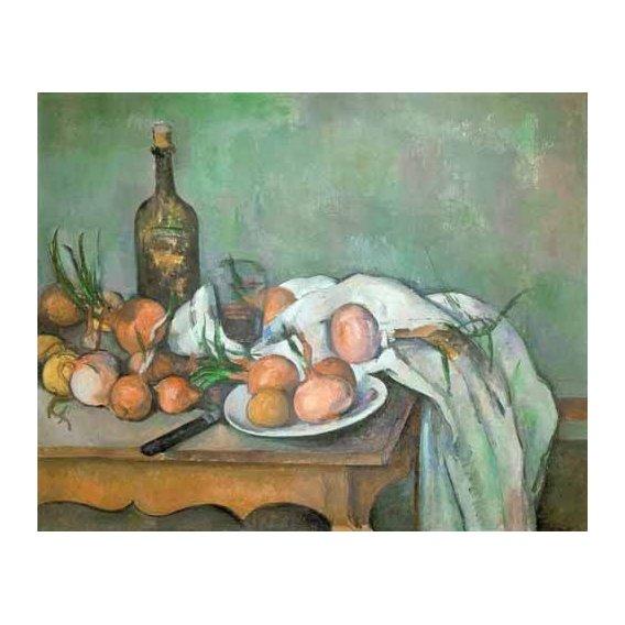 cuadros de bodegones - Cuadro -Bodegon con cebollas-