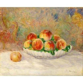 - Cuadro -Bodegon con melocotones- - Renoir, Pierre Auguste