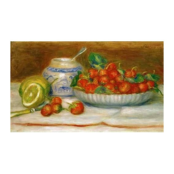 cuadros de bodegones - Cuadro -Bodegon con fresas-