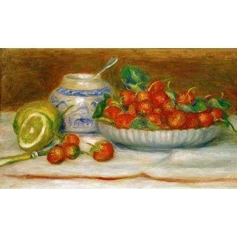 - Cuadro -Bodegon con fresas- - Renoir, Pierre Auguste
