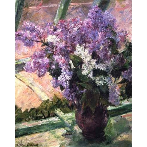 cuadros de flores - Cuadro -Lilacs in a Window, 1880-