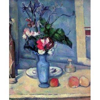 cuadros de bodegones - Cuadro -El jarrón azul (1889-90)- - Cezanne, Paul