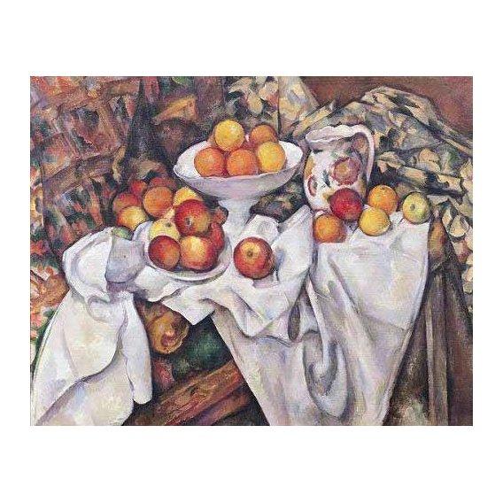 cuadros de bodegones - Cuadro -Manzanas  y naranjas(1895-1900)-
