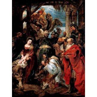 - Cuadro -Adoración De Los Reyes Magos- - Rubens, Peter Paulus