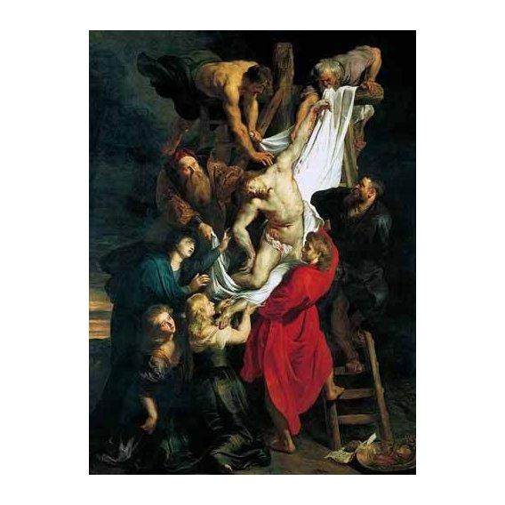 cuadros religiosos - Cuadro -Triptco. Descendimiento de La Cruz (Panel Central)-