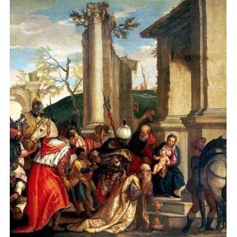 cuadros religiosos - Cuadro -Adoración De Los Reyes Magos- - Veronese, Paolo