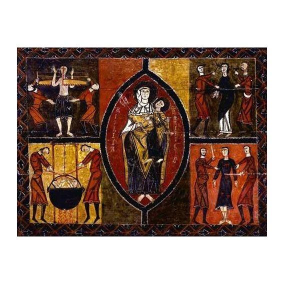 cuadros religiosos - Cuadro -Martirio de Santos Quirce y Julita (San Quirce de Durro)-