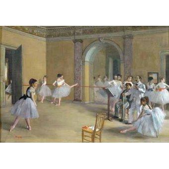 cuadros de retrato - Cuadro -Foyer de la danza en la Opera- - Degas, Edgar