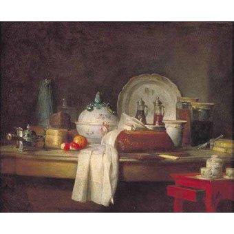 cuadros de bodegones - Cuadro -Comedor de Oficiales- - Chardin, Jean Bapt. Simeon