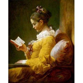 cuadros de retrato - Cuadro -Muchacha Leyendo- - Fragonard, Jean Honoré