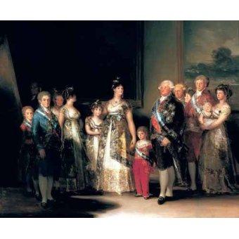 cuadros de retrato - Cuadro -Retrato de la Familia de Carlos IV de España- - Goya y Lucientes, Francisco de