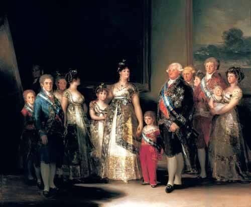 cuadros-de-retrato - Cuadro -Retrato de la Familia de Carlos IV de España- - Goya y Lucientes, Francisco de