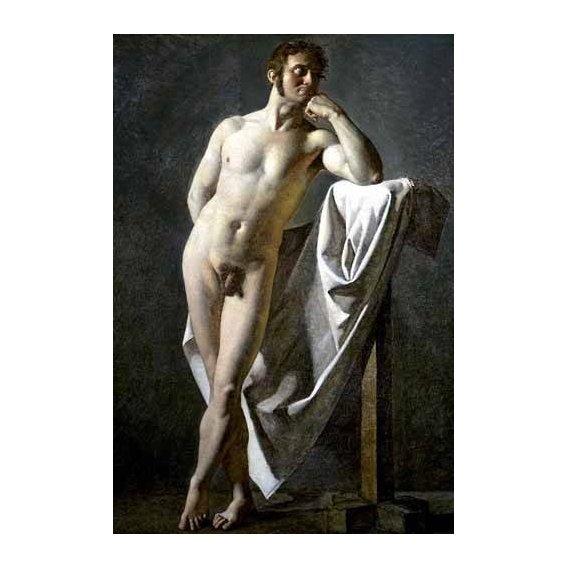 cuadros de retrato - Cuadro -Estudio anatómico de un hombre-