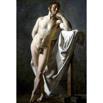 cuadros de desnudos - Cuadro -Estudio anatómico de un hombre- - Ingres, Jean-Auguste-Dominique