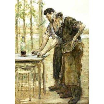 - Cuadro -Herreros bebiendo- - Raffaelli, Jean Francois