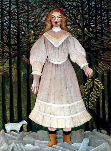 cuadros-de-retrato - Cuadro -la Niña- - Rousseau, Henri