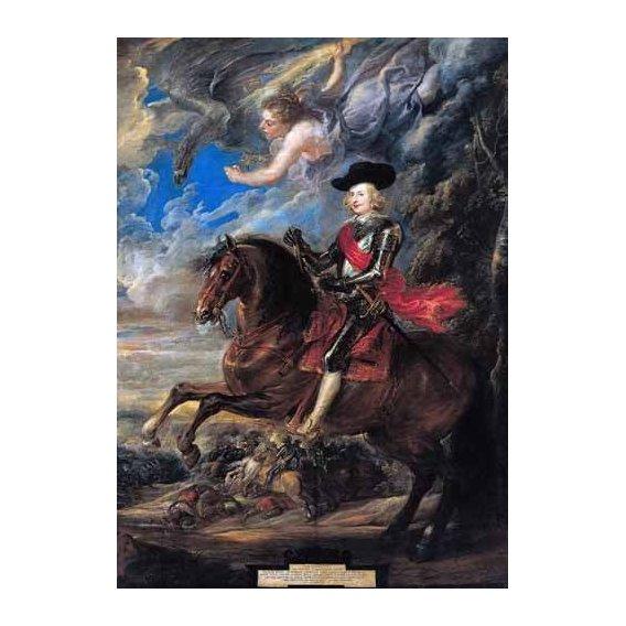 cuadros de retrato - Cuadro -Don Fernando de Austria en la batalla de Nordlingen-