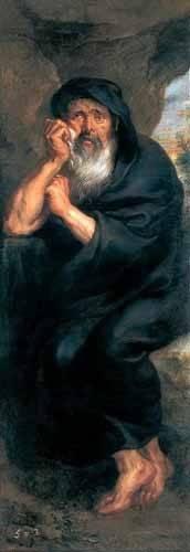 cuadros-de-retrato - Cuadro -Heráclito, el filosofo que llora- - Rubens, Peter Paulus