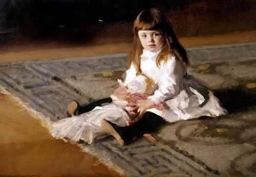 cuadros-de-retrato - Cuadro -Los hijos de Edward D. Boit- - Sargent, John Singer