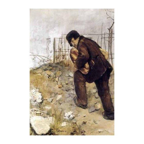 cuadros de retrato - Cuadro -L'homme aux deux pains-