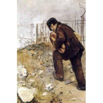 - Cuadro -L'homme aux deux pains- - Raffaelli, Jean Francois