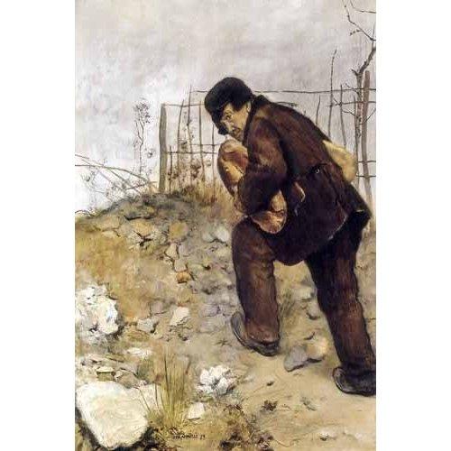 Cuadro -L'homme aux deux pains-