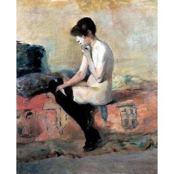 - Cuadro -Mujer desnuda en un divan- - Toulouse-Lautrec, Henri de