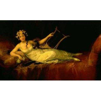 - Cuadro -Retrato de la Marquesa de Santa Cruz- - Goya y Lucientes, Francisco de